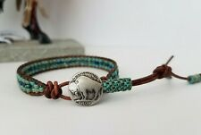 Colorado Sundance BOHO Turquoise Picasso Leather Wrap Bracelet