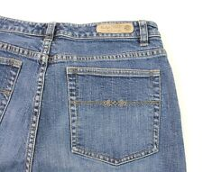 Indigo Palms Women's Jeans Size 14 Regular Medium Blue Wash Wide Hem Bootcut