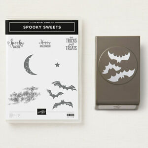 """Stampin' Up!  """"SPOOKY SWEETS"""" Stamp Set & """"SPOOKY BATS"""" Punch  RETIRED  **NEW**"""