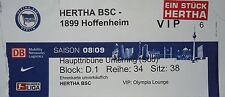 VIP TICKET 2008/09 Hertha BSC Berlin - 1899 Hoffenheim