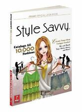 Style Savvy Strategy Guide Game Book Nintendo DS Prima Games