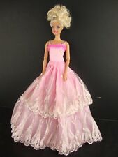 Classic Pink Ball Gown Made to Fit the Barbie Doll