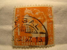 Netherlands Indies Stamp 1933 Scott 174 A18  Orange 12 1/2 Cent
