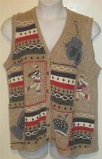 NUTCRACKER misses plus sz IX Pretty tan skating girl mittens sweater vest N2