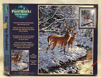 Dimensions Paintworks Paint by Number Kit 2001 366984 Creekside Deer Snow Box
