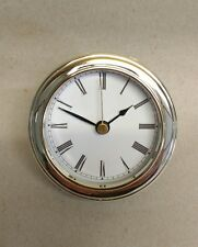 """CLOCK INSERT White Dial,easy to read ROMAN numbers,Fit up 3 1/8"""" dia, NEW #CUS-R"""