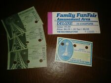 1982 WORLD'S FAIR KNOXVILLE TENNESSEE LOT OF 4 TICKETS AND EMPTY COUPON BOOKLET
