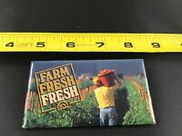 Vintage FARM FRESH FRESH pin button pinback *EE69