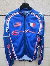 Maillot cycliste CYFAC VELOEUROPA France USA cycling shirt XS manches longues