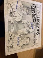 Cleveland Buckeyes Negro Leagues Signed Autograph Print Jethroe, Grace, & Gully