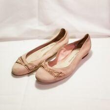 Marc Jacobs Pink Leather Ballet Flats Women's Shoe Size 39