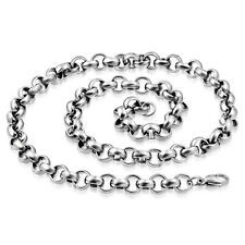 "Stainless Steel Lobster Claw Clasp Rolo Link Chain Men's /  Unisex 54cm (22"")"