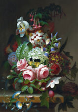 Flower Roses Flowers Dutch Master Floral Painting Canvas Print