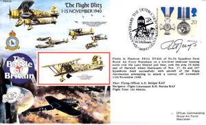 RAFA18 The Night Blitz RAF Battle of Britain cover signed GNYS Polish 302 Sqn