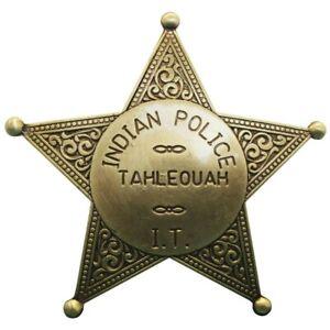 Sheriffstern Indianerpolizei Stern messingfarbend