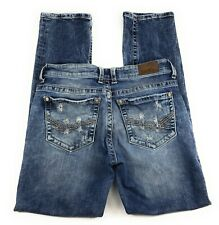 BKE Buckle Payton Straight Leg Mid Rise Stretch Distressed Jeans Women's 29R