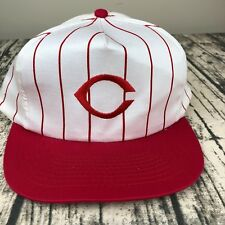Vtg Cincinnati Reds Baseball Classic Red White Pinstripe Snapback Hat