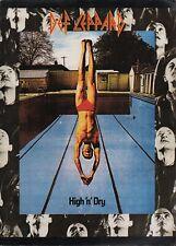 DEF EPPARD 1981 HIGH 'N' DRY WORLD CONCERT TOUR PROGRAM BOOK BOOKLET / EX 2 NMT