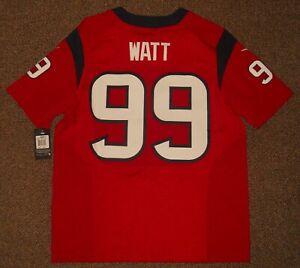 JJ Watt Red Houston Texans Authentic Nike Elite Jersey sz 48 w/ tags New Mens