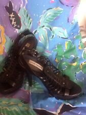 Steve Madden Gladiator Sandals With 5 Inch Platform Heal Black Size 7 1/2