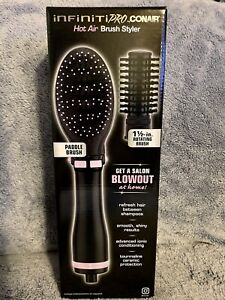 Conair InfinitiPro Hot Air Brush Styler - Paddle & Rotating Brush