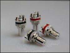 MS Audio Rhodium Plated Tellurium Copper RCA Socket 2 pairs/4 pcs