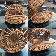 🌟Rare Antique Vintage Fish Crab Trap Basket Woven Drama Prop Shop Display