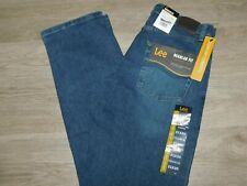 LEE Regular Fit Jeans Straight Leg Comfort Stretch Level 1 Medium Blue Patriot