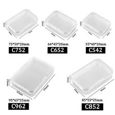5x Small Transparent Plastic Storage Box Home Office Multipurpose Display Case …