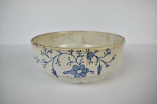 Antique Faience Pottery Serving Bowl With Union Pattern 1900's
