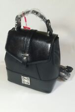 Tommy Hilfiger Womens Small Black Patent Logo Backpack