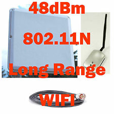 Free Internet!802.11B/G/N WIFI USB Wireless Antenna Booster Combo Outdoor/Indoor