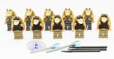 Lego Jar Jar Binks & Gungan Soldiers Warrior Star Wars Minifigures Lot of 10