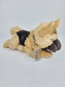 Super Soft German Shepherd 'Max' Soft toy with Collar 25cm long