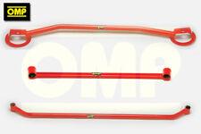 OMP RED TWIN STRUT BRACE SET VW GOLF MK2 1.8 GTi 8v