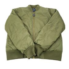 NWOT Decibel Bomber Jacket Coat Military Style Patches Mens M Olive Green Zip