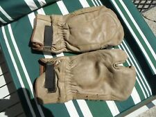 VINTAGE LEATHER CHAINSAW GLOVES / MITTEN THICK QUALITY SIZE MEDIUM