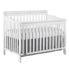 5-in-1 Convertible Baby Bed Full Size Crib WHITE Nursery Bedroom Furniture White