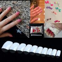DIY 600Pcs Round Short False Nails Fake Finger Nail Tips Art Cover Natural White