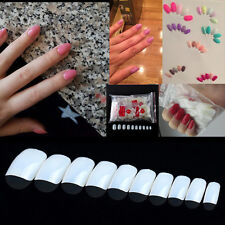 600Pcs Natural White Full Round UV/Acrylic Short Artificial False Fake Nail New