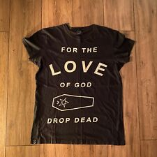 Drop Dead Clothing FOR THE LOVE OF GOD T-Shirt Oli Sykes BMTH Rare Grunge Goth