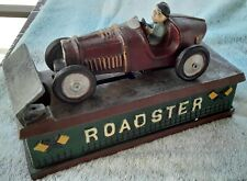 """Cast Iron Mechanical """"Roadster"""" Bank - VINTAGE Reproduction"""