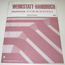 Werkstatthandbuch Honda Concerto Motor Klima Heizung Elektrik Daten Ausgabe 1991
