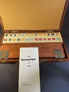Vintage The Rummy Game by Field In Original Carry Case Instructions -all Pieces