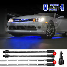 BLUE 12pc LED Neon Underglow Interior Light Solid Breath Strobe 2Channel Output
