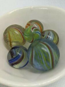6 Handmade German Marbles HTF Mixed Lot See Photos