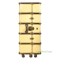 "Stateroom Armoire Ivory Steamer Travel Trunk 51"" Nautical Furniture New"