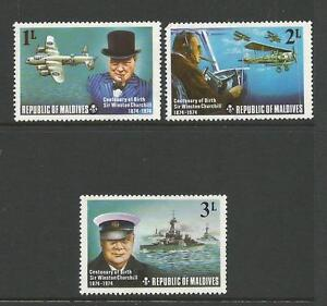 1974 Birth Cent of Churchill Part set of 3 low values complete MUH as Purchased