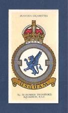 No 70 SQUADRON  RAF BADGE formed RFC 1916 South Farnborough 1937 original card