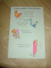 New Humorous Belated Birthday Card